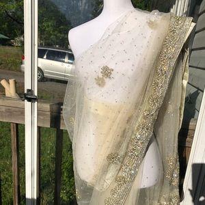 Dresses & Skirts - Designer saree Pakistani Indian sarhi like new
